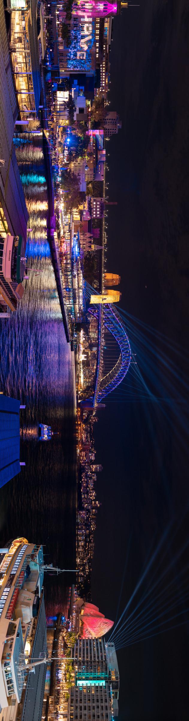 2019 Vivid Sydney of Harbour Bridge and Opera House
