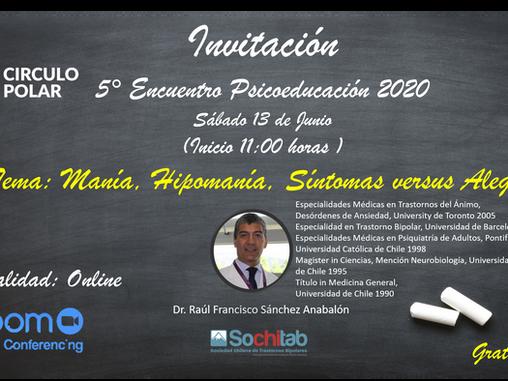 5ta Sesión online de Psicoeducación Circulo Polar 2020