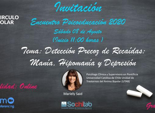 Octava Sesión online de Psicoeducación Círculo Polar 2020