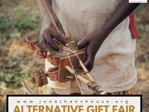 "Giving time! Join our annual fundraiser: The ""Alternative"" Gift Fair!"
