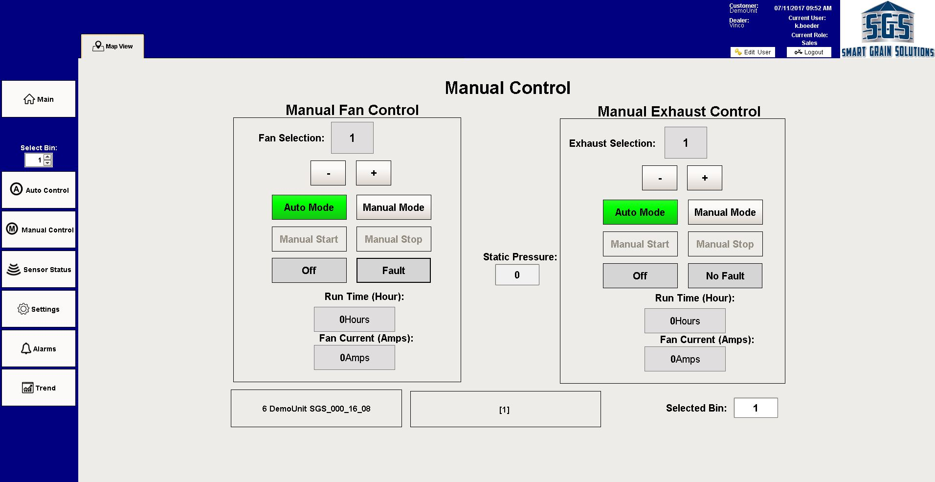 Ignition Manual Control