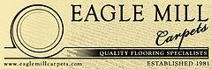 EagleMillCarpets COM LOGO MORE YELLOW BW