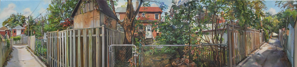 Elizabeth Jackson Hall, artist, painter, A Peek over the Fence
