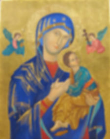 Elizabeth Jackson Hall, artist, painter, Our Lady of Perpetual Help