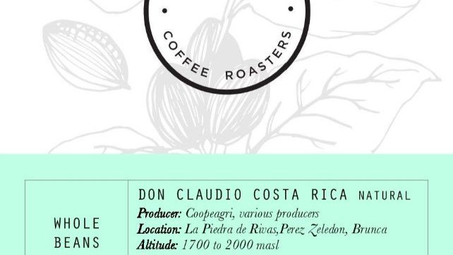 80 Stone Coffee Roasters - Costa Rica: Don Claudio