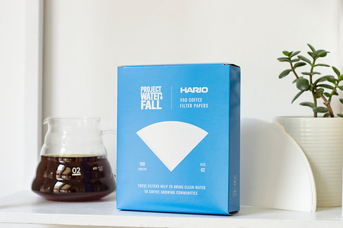 Hario X Project Waterfall V60 Filter Papers (100 pack)