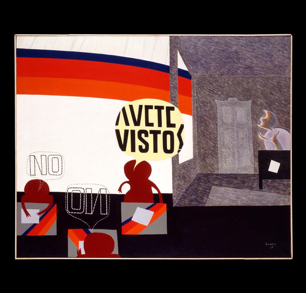 Avete visto - 1967 acrilico su tela 80x100