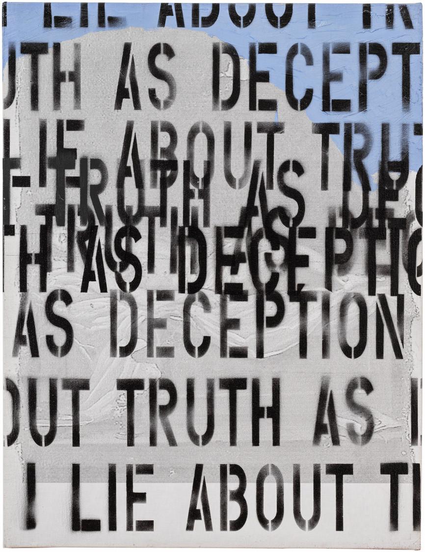 2003 - 65x50 mento sulla verità come in