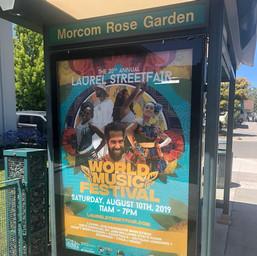 Laurel Street Fair Bus Stop Ad