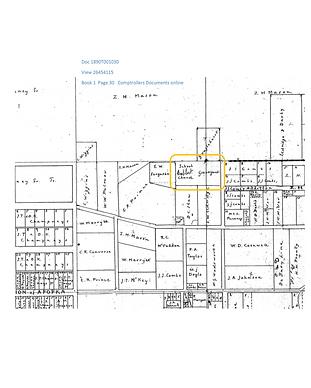 1890 Apopka town School and Church Platt