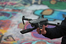 4k Drone with 360 Camera Attached