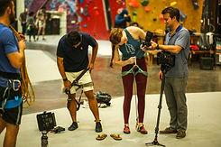 Professional Camera Crew Prepares for Adventure Video Shoot