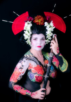 japanese ink bodypainting