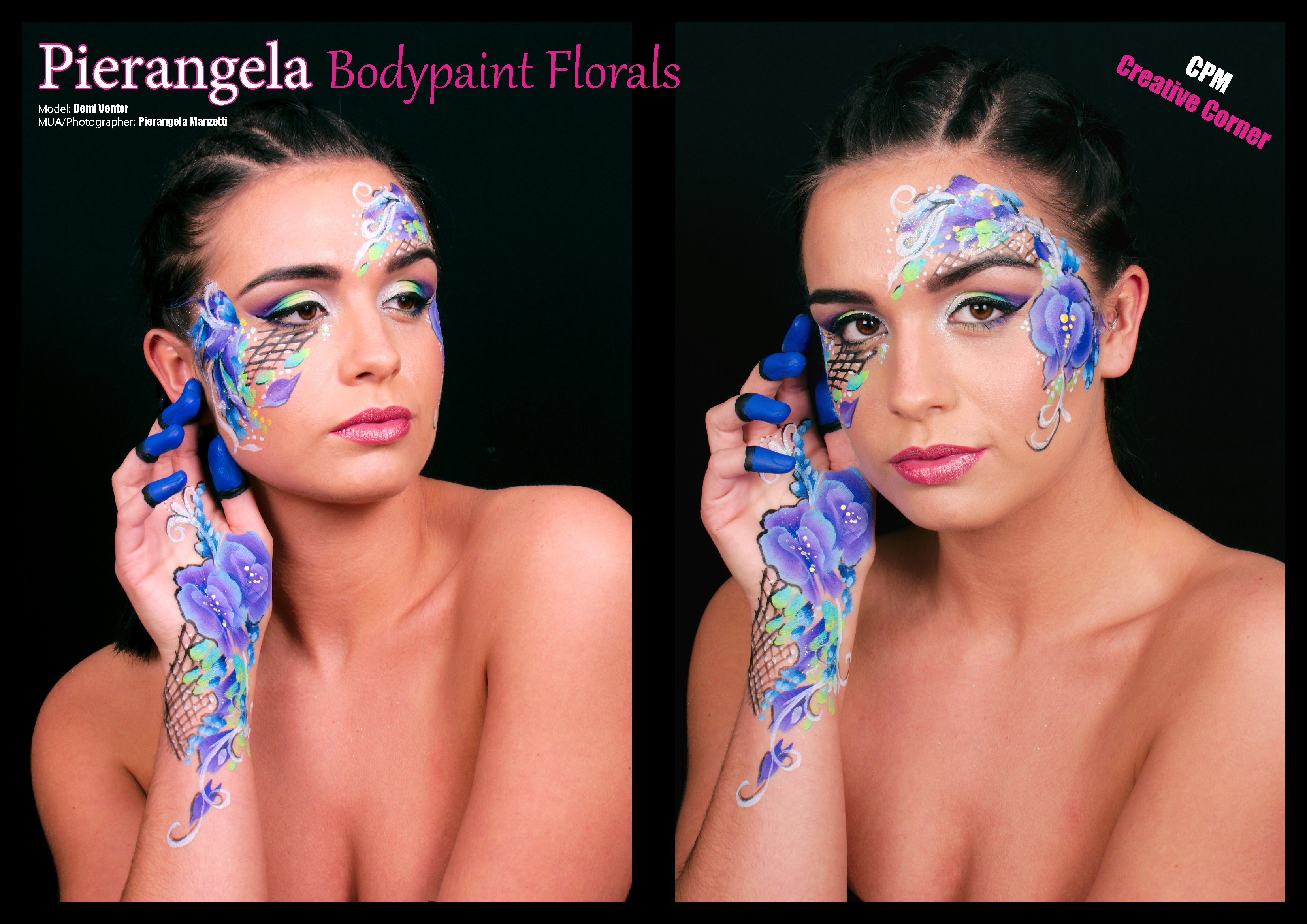 Body paint florals Tearsheet