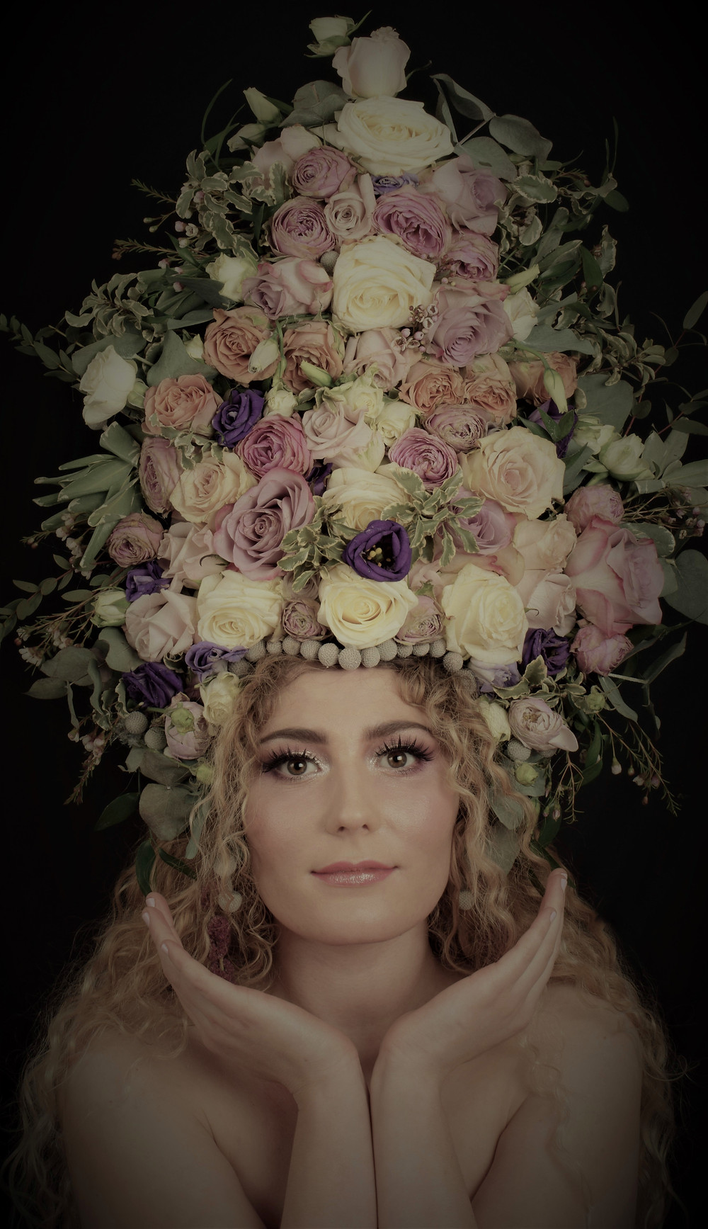 Roses Headdress by Pierangela Manzetti