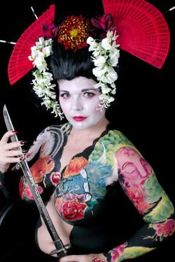 japanese ink bodypaint