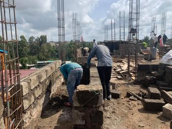 Construction of dormitory