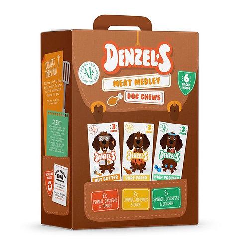 Denzel's Dog Chews Meat Variety 6 x 55g