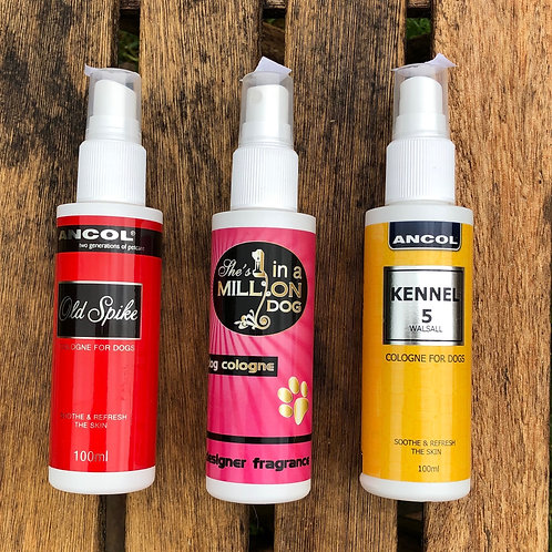 Go Sniffing with our range of Dog Cologne