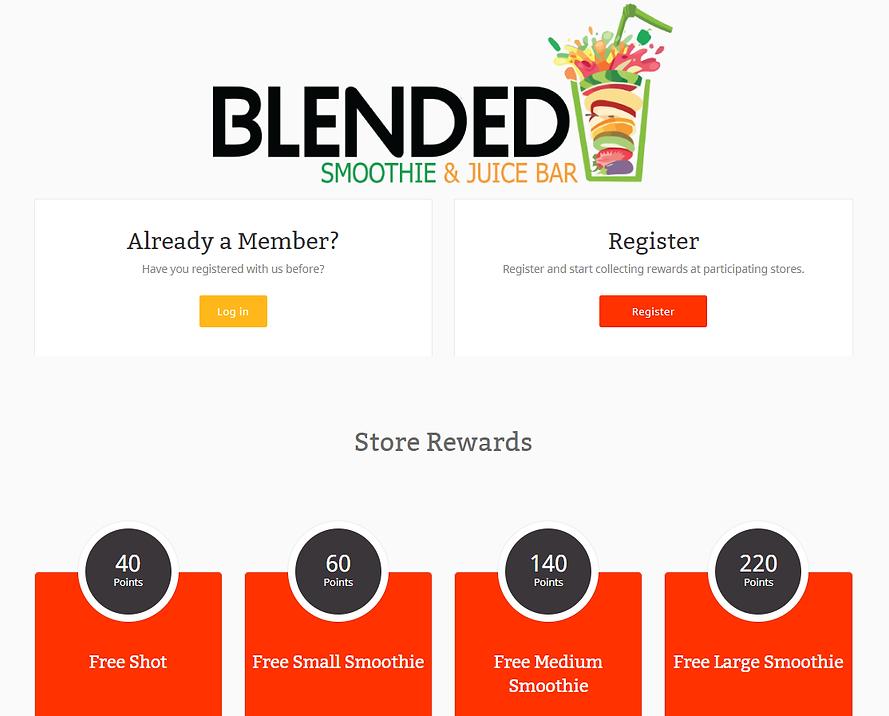 Blended Smoothie & Juice Bar Rewards