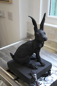 Hare covered with oxide