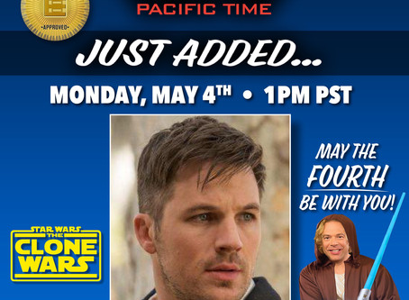 may the 4th be with you! Star wars themed workout with Echosmith and Matt Lanter 5/4 -1pm pacific