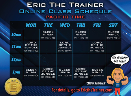 Live workouts with Eric!-This class has currently ended 7/1/20