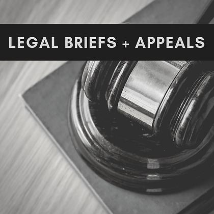 LEGAL BRIEFS + APPEALS WEBINAR
