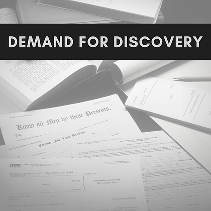 DEMAND FOR DISCOVERY