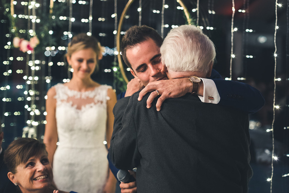 Wedding at Rókusfalvy Vinery - hugging grandfather