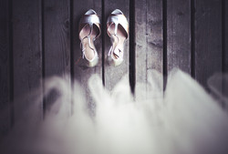 bridal shoes with the dress