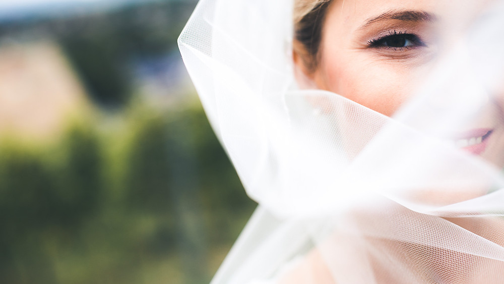 Wedding at Rókusfalvy Vinery - bridal portrait with veil