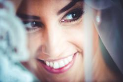 bridal portrait with a veil
