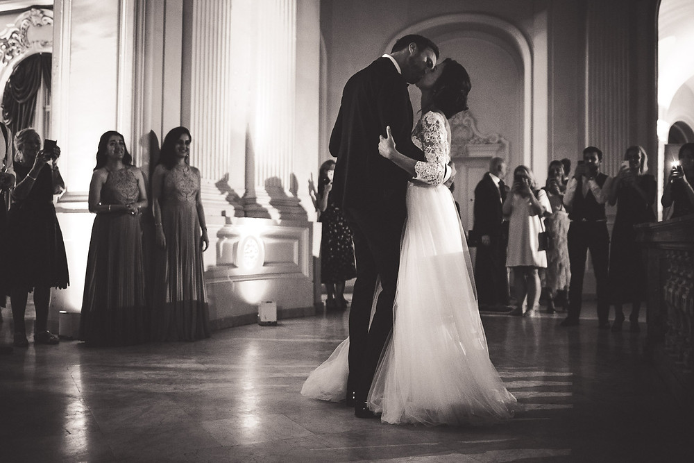 Wedding at the Vajdahunyad Castle in Budapest - first dance