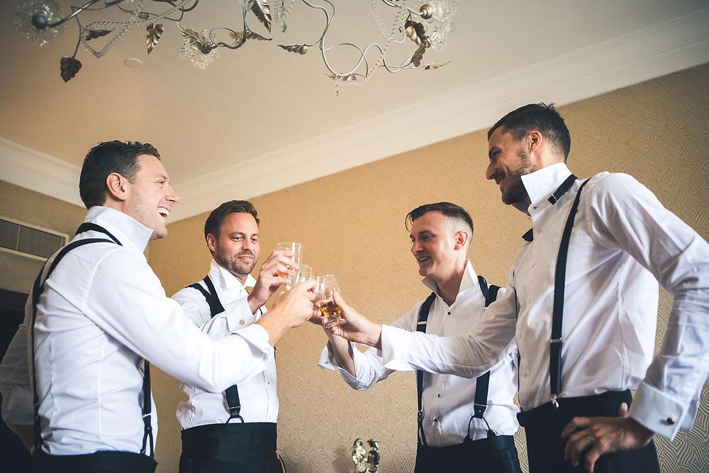 Wedding at the Vajdahunyad Castle in Budapest - groom preperation