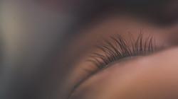 macro photograph of a baby eye lash