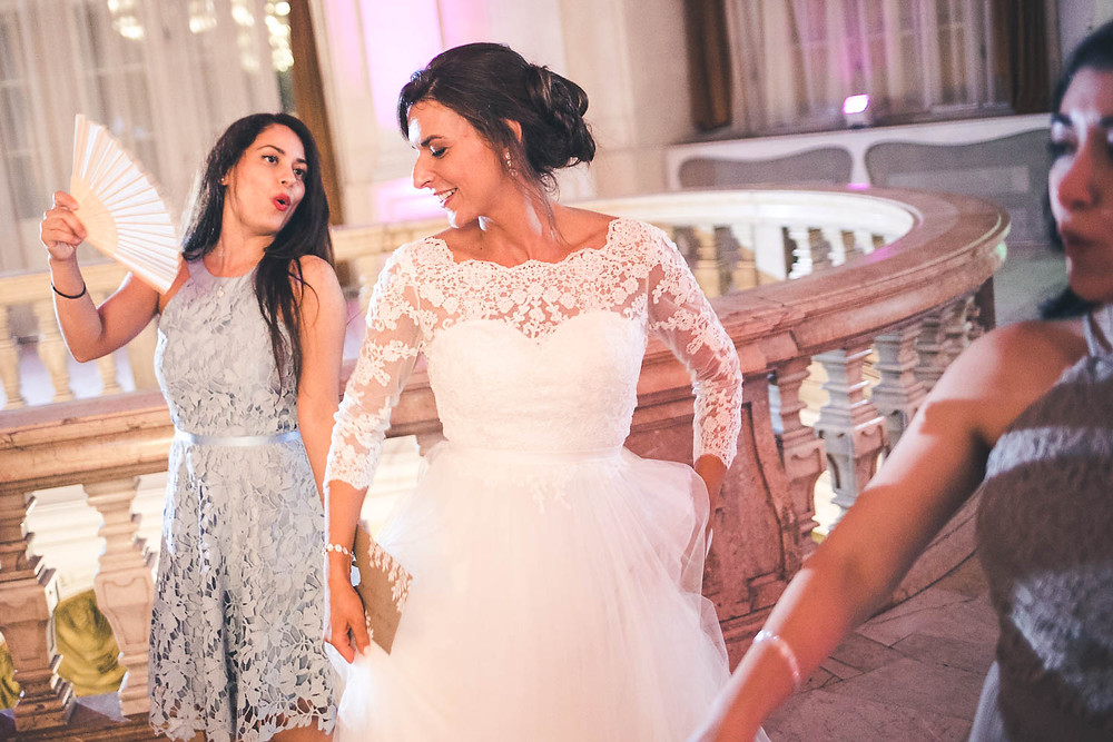 Wedding at the Vajdahunyad Castle in Budapest - party