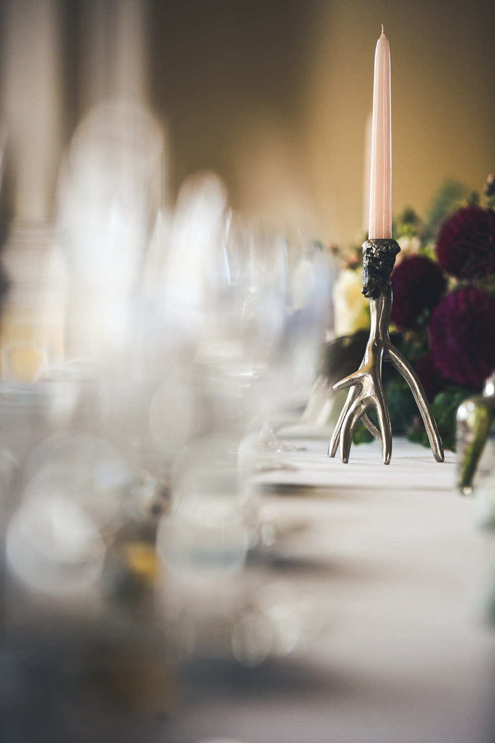 Wedding at the Vajdahunyad Castle in Budapest - table decor