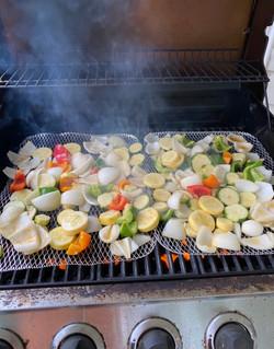 B veggie grill