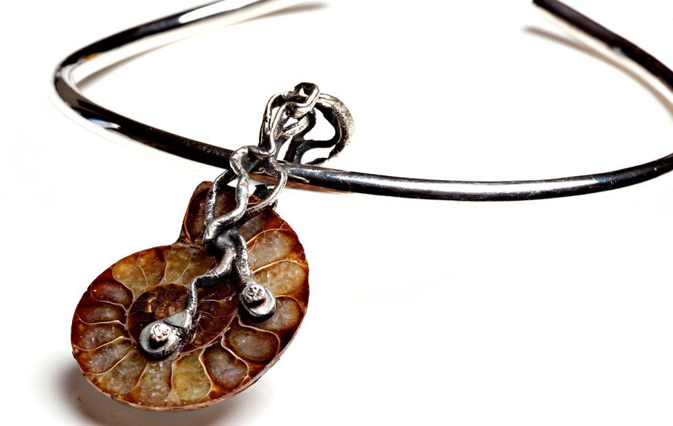 Amonite Fossil necklace _MG_5112 copy.jp