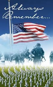 Give thought to those who kept us free....