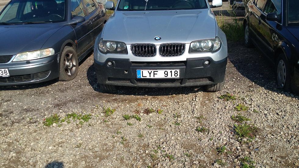 BMW X3 V/N LYF918 2004M. KURAS DYZELINAS. DUOMENYS NENUSTATYTI.