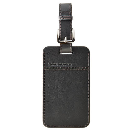 Leather Luggage Tag - Black