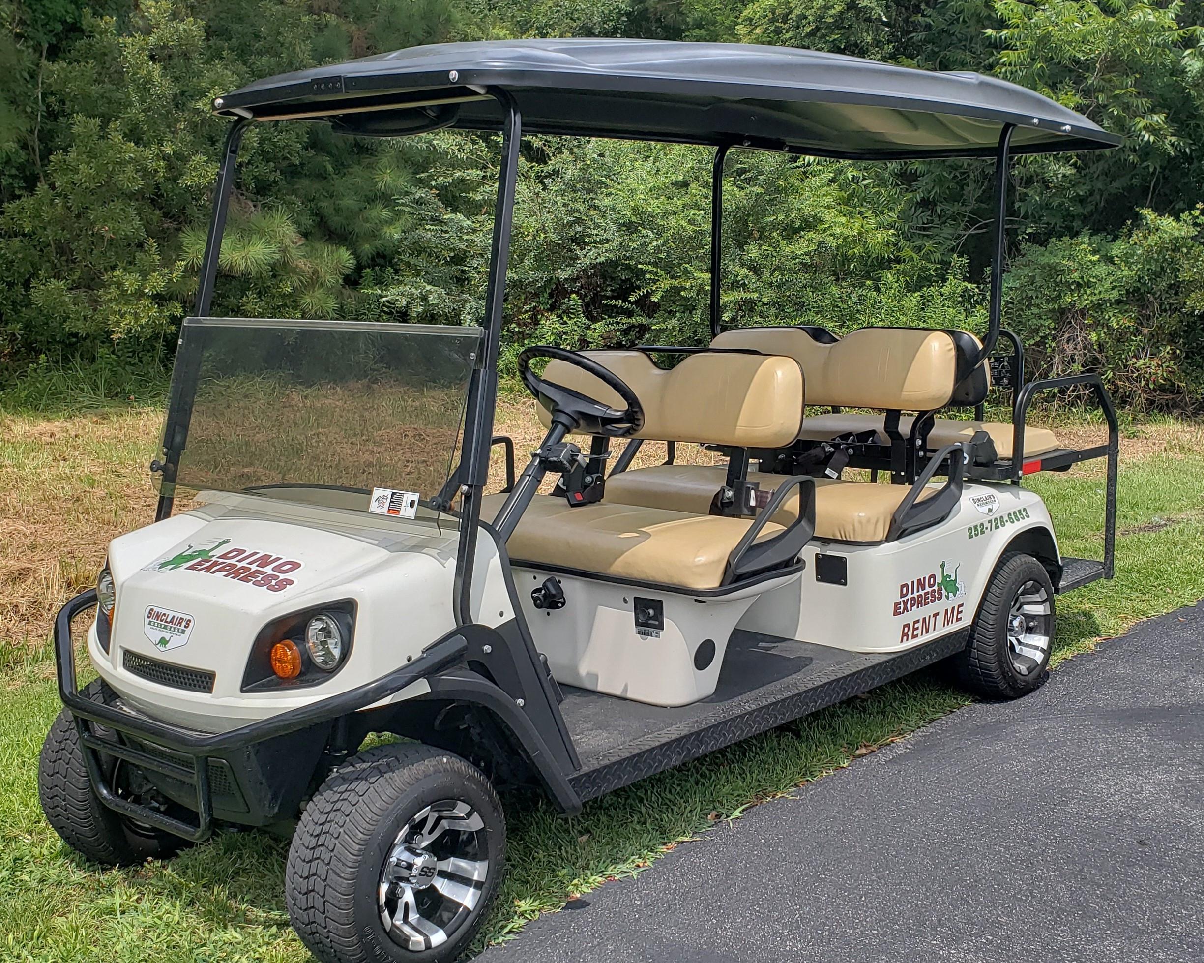 Six Passenger Golf Car Rental