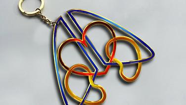 (SC)² Keychain mockup