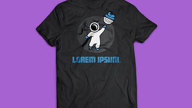 Cupcake Astronaut T-shirt mockup 1