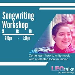 LEG songwriting workshop flyer