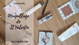 COSMETIQUE BIO : Un maquillage de St Valentin avec Charlotte Bio Make up