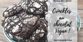 RECETTE VEGAN : Crinckles au chocolat