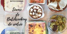 Le retour du Batchcooking : Une petite semaine de repas en 2h